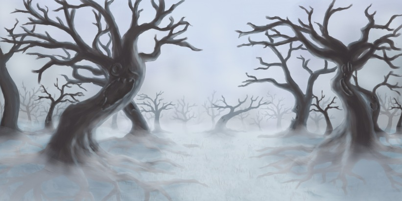 Wizard of Oz Theater Backdrop Commission: Spooky Forest