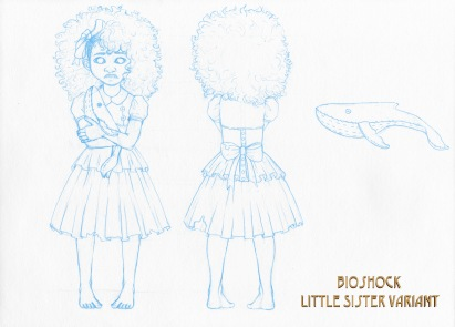 Bioshock - Little Sister variant sketch