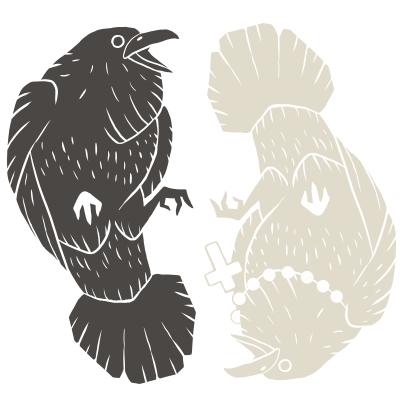 Huginn and Muninn (Stamp Design)