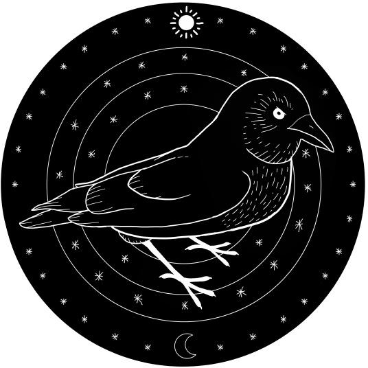 Old Gods - Raven (Stamp Design)